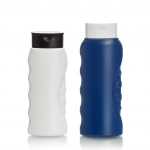Flex HDPE bottle for men's health and beauty products