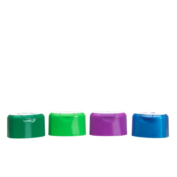 HSDU-style plastic caps in various colours