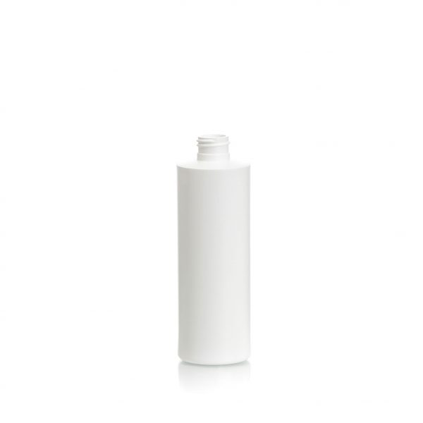 Cylinder bottle 360ml 12oz., HDPE