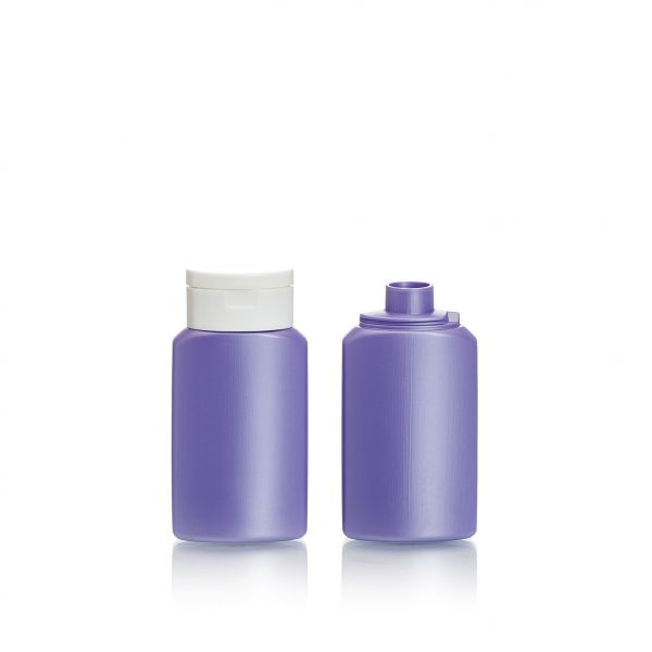 small plastic bottle for cosmetic use, 60ml (2oz.) HDPE