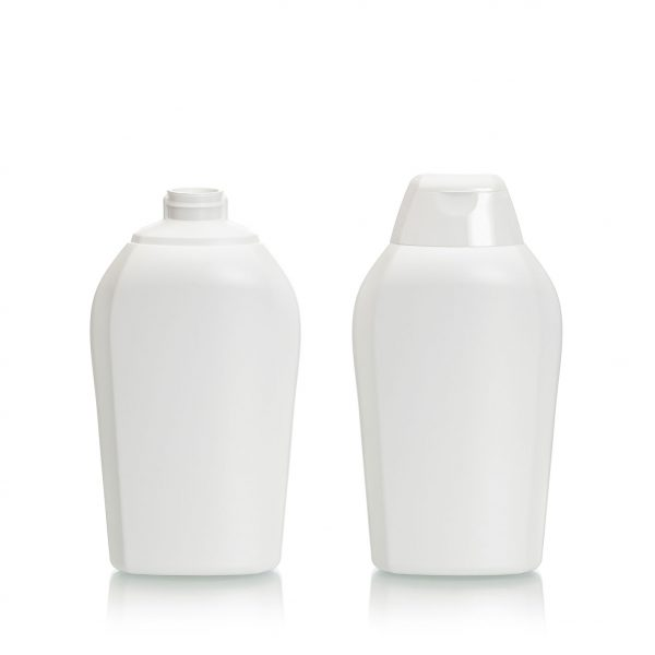 plastic bottle, HDPE 380ml for snap-top closure, 13oz.
