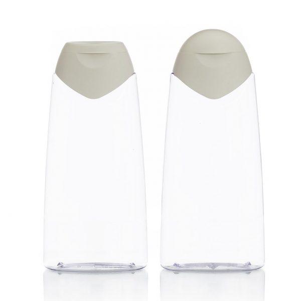 Custom Oval plastic bottle in PVC
