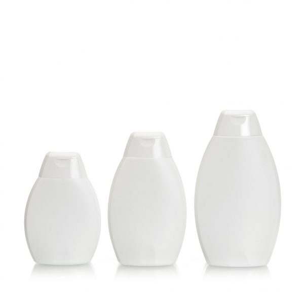 HSCR-R plastic bottles with snap cap for use with health and beauty and cosmetic products