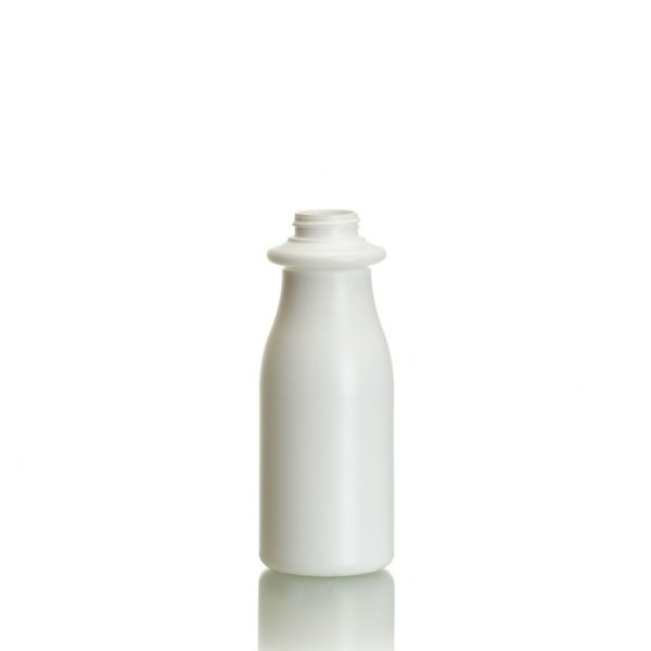 round plastic bottle for health and beauty, body cream and lotion