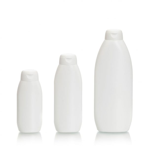 Oceanus plastic bottle in 100ml,150mk, 300ml, with snap cap for use with health and beauty products