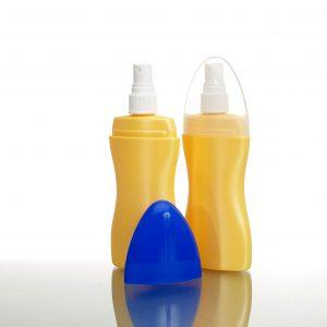 plastic spray bottle with overcap - Sunfish
